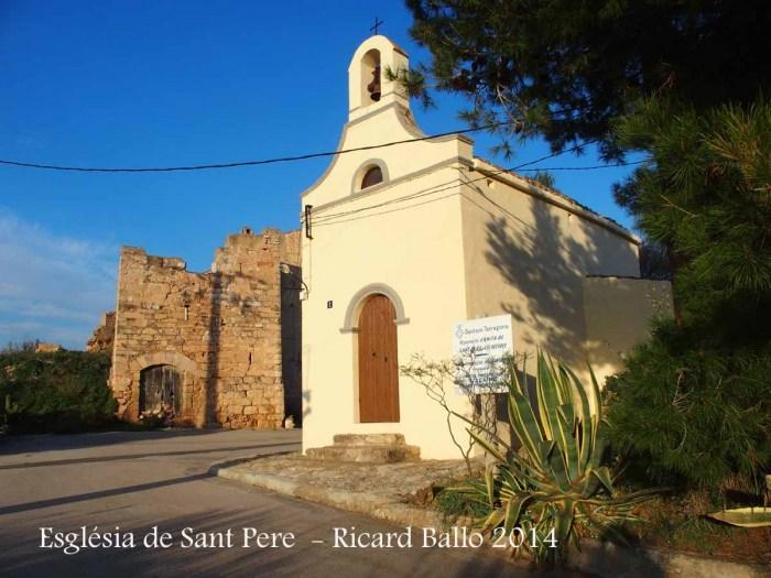 Església de Sant Pere – Aiguamúrcia - A l'esquerra de la fotografia hi apareix la torre de Les Destres