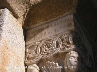 Església de Sant Pere Cercada – Santa Coloma de Farners - Inscripció funerària.