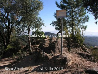 Església de Sant Pere Cercada – Santa Coloma de Farners - Camí - Roca Abellera