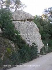 Església de Sant Pere Cercada – Santa Coloma de Farners - Camí - La roca dels 10 cèntims.