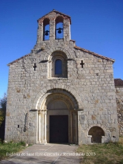 Església de Sant Pere Cercada – Santa Coloma de Farners - Façana davantera.