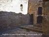 Església de Sant Pere d'Ardesa – Rubió - Interior. Fotografia feta a traves dels barrots de ferro de la reixa d\'entrada.