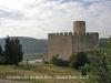 Església de Sant Pere de Castellet – Castellet i la Gornal - En primer terme el cementiri i el castell de Castellet.