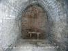 Església de Sant Pere de la Goda – Argençola - Fotografia feta a través de la petita espiera de la porta d\'entrada. A dins reina la més completa foscor.