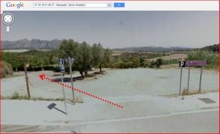 Església de Sant Pere de Masquefa – Masquefa - Itinerari - Captura de pantalla de Google Maps, complementada amb anotacions manuals.