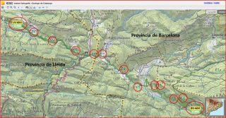 Berguedà - Mapa parcial - Institut Cartogràfic de Catalunya - Pàgina web - Captura de pantalla - Novembre 2014.