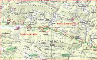 Berguedà - Mapa - GRAN ATLES DE CARRETERES DE CATALUNYA, editat per l'Institut Cartogràfic de Catalunya (Escala 1:50000 / Edició 2005 / 262 pàgines)