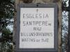 Església de Sant Pere de Riu – Tordera - Quan hi accediem, hem trobat aquesta porta, amb una precària informació. Hem d'anar una mica més endavant, s'entra per una altre porta.
