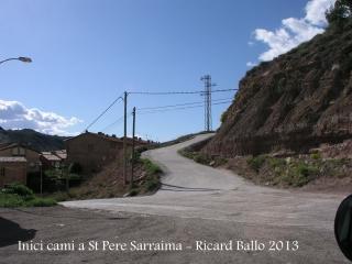 Església de Sant Pere de Sarraïma - Inici itinerari: Sallent, a la placeta del davant del Tanatori