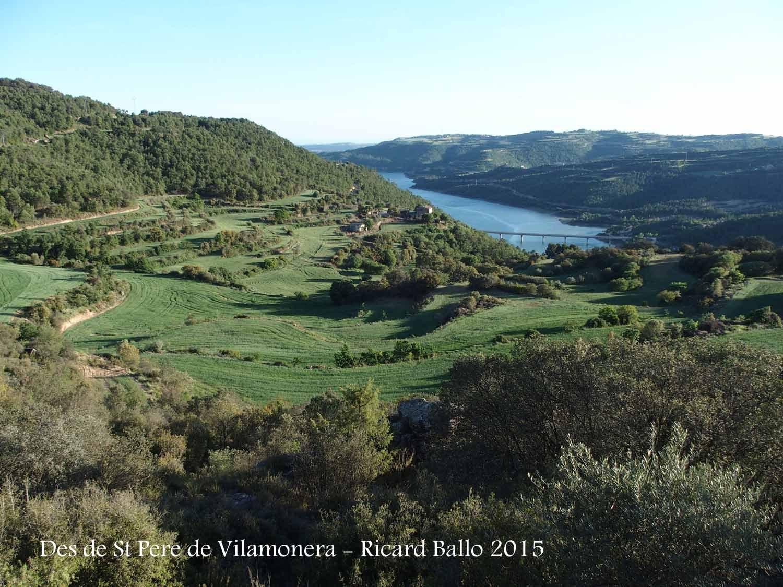 Vistes des de la Masia de Vilamonera - La Baronia de Rialb