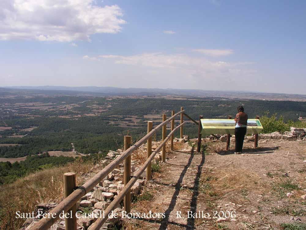 Vistes des de l\'Església de Sant Pere del Castell de Boixadors – Sant Pere Sallavinera