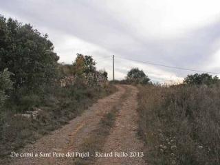 De camí a l'església a Sant Pere del Pujol - Itinerari.