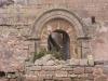 Església de Sant Pere Sasserra - Porta d\'entrada.