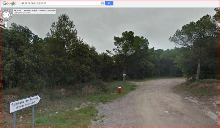 Església de Sant Ramon de Sobirana de Ferrans – Balsareny - Itinerari - Sortida de la carretera BP-4313 - Captura de pantalla de Google Maps.