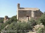 Església de Sant Romà de Comiols – Artesa de Segre - En segon terme, la torre del Castell de Comiols.