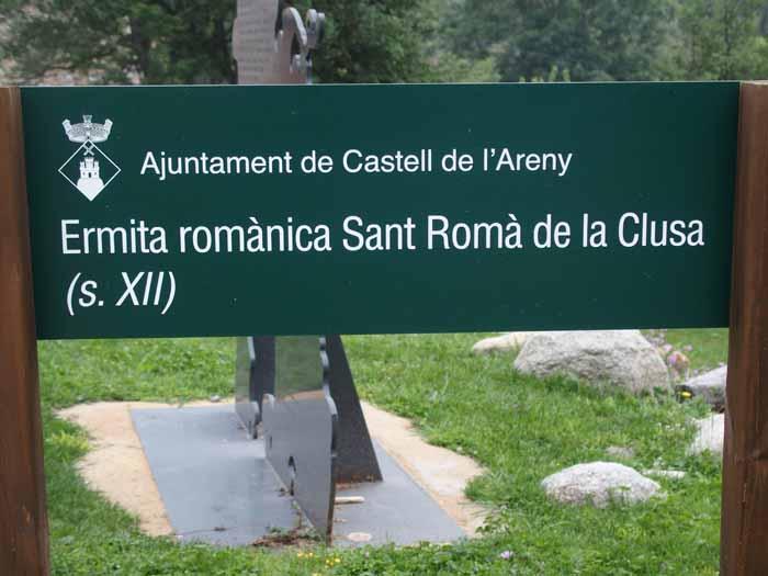 Església de Sant Romà de la Clusa - Castell de l'Areny