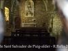 Església de Sant Salvador de Puig-alder – Les Planes d'Hostoles - Aquesta fotografia s'ha obtingut de forma precària, introduint l'objectiu de la màquina de retratar entre mig de les barres de ferro  d'una finestreta que protegeixen la porta d'entrada.