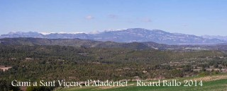 Vistes des del camí d'accés a l'església de Sant Vicenç d'Aladernet – Balsareny