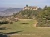 Vista general, entorn del lloc on trobem situades l'Església de Sant Vicenç de Castellolí, el Castell de Castellolí i la Torre de Telegrafia Òptica de Castellolí.