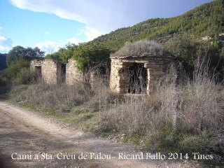 Camí a l'Església de Santa Creu de Palou – Mura - Tines de vi.
