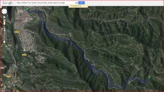 Camí a l'Església de Santa Creu de Palou – Mura - Itinerari proposat per Google Maps - Captura de pantalla de Google Maps. De totes maneres, el recorregut