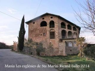 Església de Santa Eugènia de Relat – Avinyó - Masia les esglésies de Santa Maria