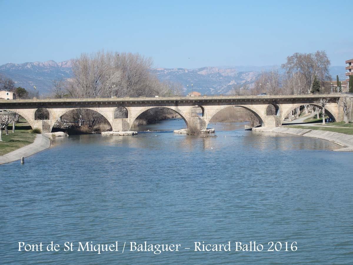 Balaguer - Riu Segre i Pont de Sant Miquel