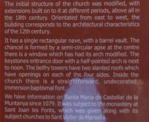Església de Santa Maria de Castellar de la Muntanya – Vall de Bianya -AMPLIACIÓ - ENG