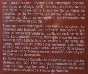 Església de Santa Maria de Castellar de la Muntanya – Vall de Bianya-AMPLIACIÓ - ESP