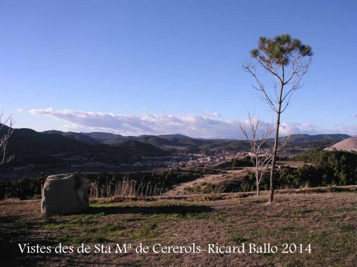 Vistes des de l'Església de Santa Maria de Cererols – Súria
