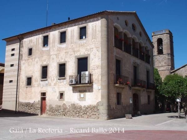 Església de Santa Maria de Gaià - Rectoria