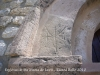 Església de Santa Maria de Lavit - Marques a la pedra. Hi ha certa polèmica als voltants d\'aquestes senyals - Hom diu que ho son de picapedrers. Altres diuen que