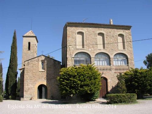 Església de Santa Maria de Viladordis – Manresa - Al costat, la rectoria.