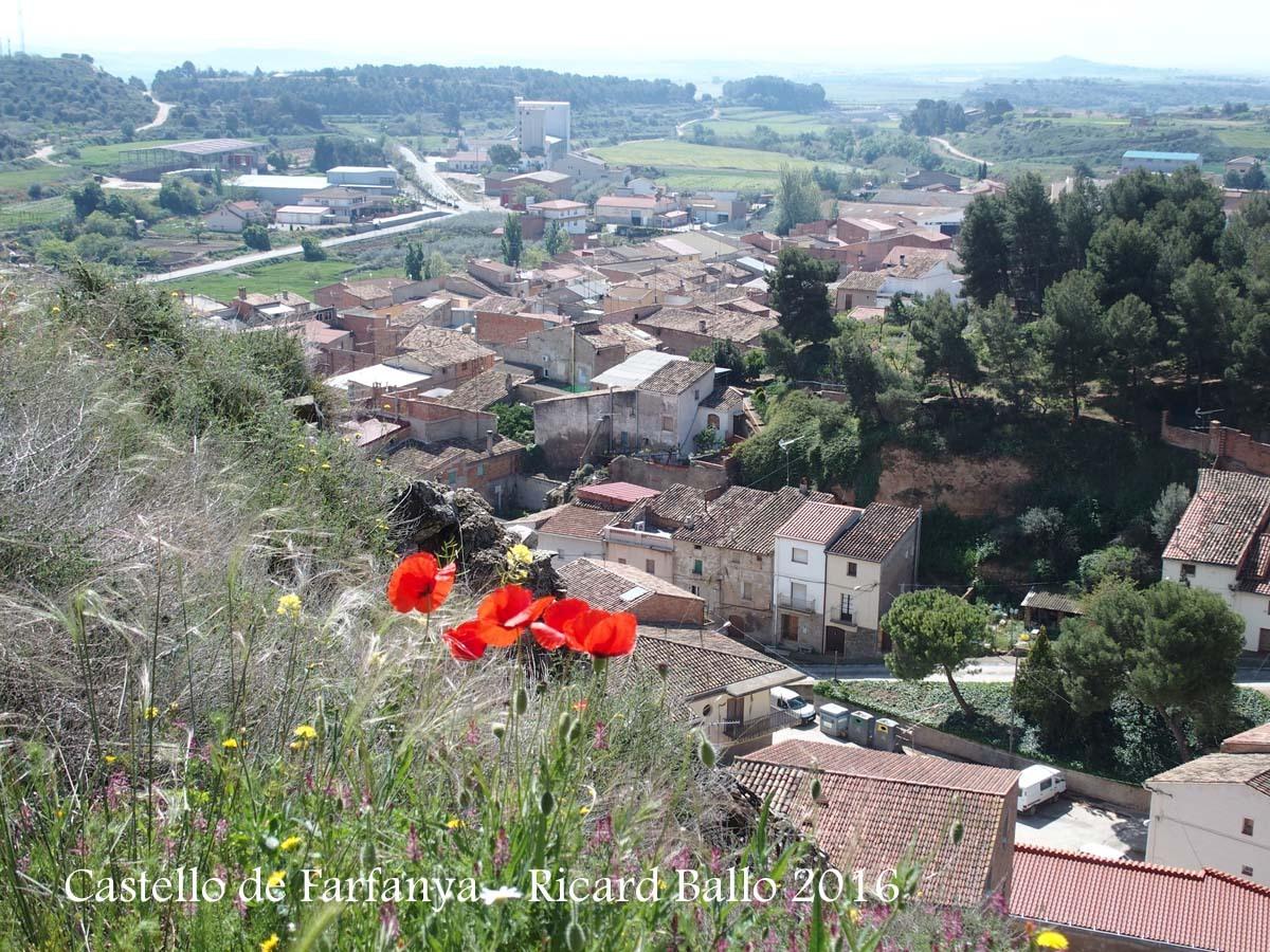 Vistes de Castelló de Farfanya, des del lloc on hi ha les restes del castell