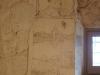 Església de Santa Maria del Castell de Castelldefels - Una mostra dels graffitis que varen dibuixar a les parets els presoners republicans durant la seva estada a la presó del castell de Castelldefels i que han arribat en bon estat fins els nostres dies