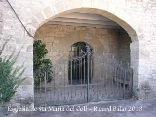 Església de Santa Maria del Coll – Talavera - Porxo d'entrada.