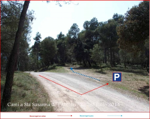 Camí d'accés a l'Església de Santa Susanna de l'Abellar – Sallent