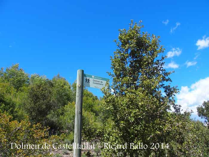 Inici del camí d'accés al Dolmen de Castelltallat
