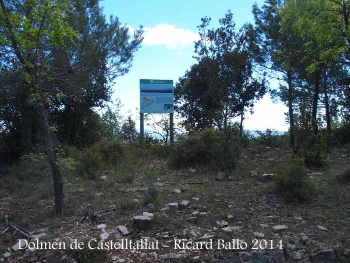 Camí d'accés al Dolmen de Castelltallat