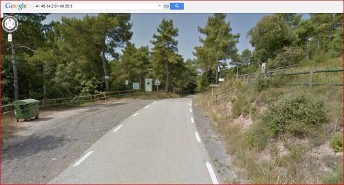 Inici camí a peu al Dolmen de Castelltallat - Captura de pantalla de Google Maps.