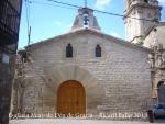 Vilalba dels Arcs - Església de la Mare de Déu de Gràcia - A la dreta de la fotografia, apareix l'església parroquial de Sant Llorenç.
