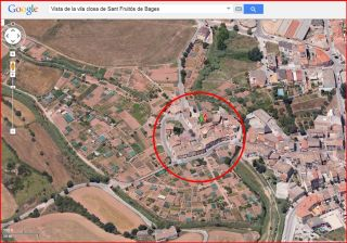 Sant Fruitós de Bages - Captura de pantalla de Google Maps.