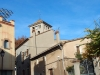 Església parroquial de Sant Genís – L'Ametlla del Vallès. Vista de la part superior del campanar, al fons de la fotografia.