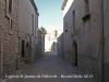 Església parroquial de Sant Jaume de Pallerols – Talavera, al fons de la fotografia, a penes visible pel fort contrallum