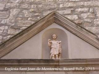 Església parroquial de Sant Joan – Montornès de Segarra - Avui en dia, si que hi ha un sant ...