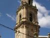 Església parroquial de Sant Llorenç - Vilalba dels Arcs. Campanar, de 40 metres d'alçada.