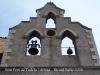 Església parroquial de Sant Pere de Tudela – Artesa de Segre - Una campana d'obús