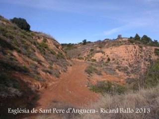 Església parroquial de Sant Pere – Sarral - Itinerari - Inici - Captura de pantalla de Google Maps, Camí a peu, vist ara en sentit de baix, a dalt.