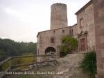 Església parroquial de Sant Vicenç de Fals – Fonollosa - Al darrere apareix una de les dues torres.