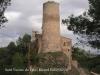 Església parroquial de Sant Vicenç de Fals – Fonollosa - Una de les Torres de Fals - Al darrere apareix el campanar de Sant Vicenç.